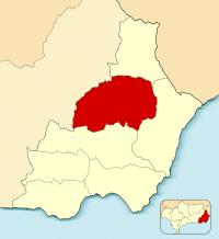 Mapa de Valle del Almanzora