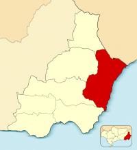 Mapa de área de Levante