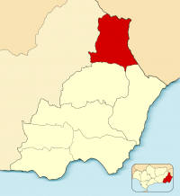 Mapa de Los Vélez